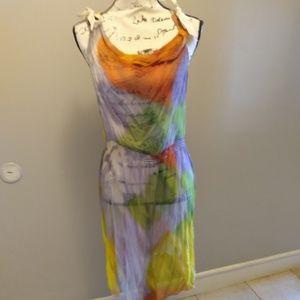 Anthropologie Leifsdottir Silk Tie Dye Dress